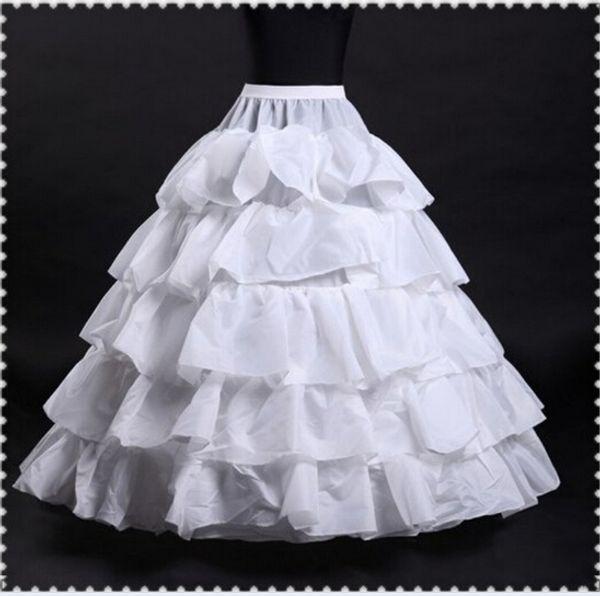 2017 Nuovo Wedding Petticoats caldo di vendita del 50% di sconto sfera poco costoso abito bianco 4-Hoop 5 strati di slittamento del Underskirt crinolina per abiti da sposa
