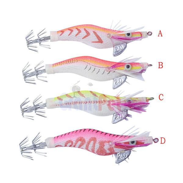 calamar jig hook 2.0 # (8cm / 7.5g) seawood 4 color podría ser precio competitivo de calidad superior OEM