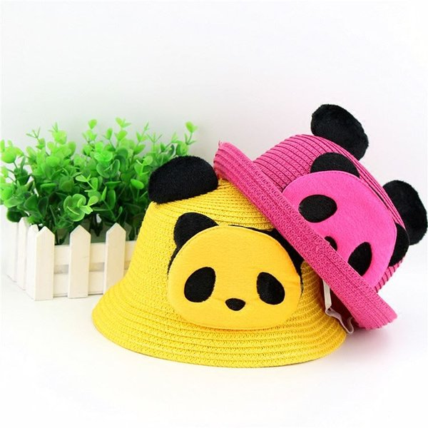 Panda rolls, straw hats, bowler hats, children's caps, Summer Hats, Sichuan, Chengdu