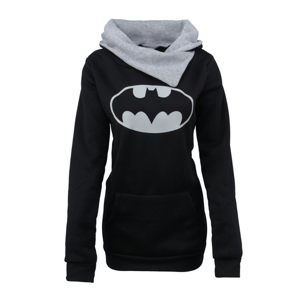 Winter news fashion women warm hoodies pullover lady blouses in carton printing with cap long sleeve T-shirt thick with pocket OL-8735