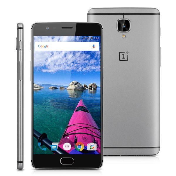 Original Oneplus 3 Mobile Phone Snapdragon 820 Quad Core 6GB RAM 64GB ROM 5.5inch Dual SIM 16MP Fingerprint ID 4G LTE Android Smart Phone