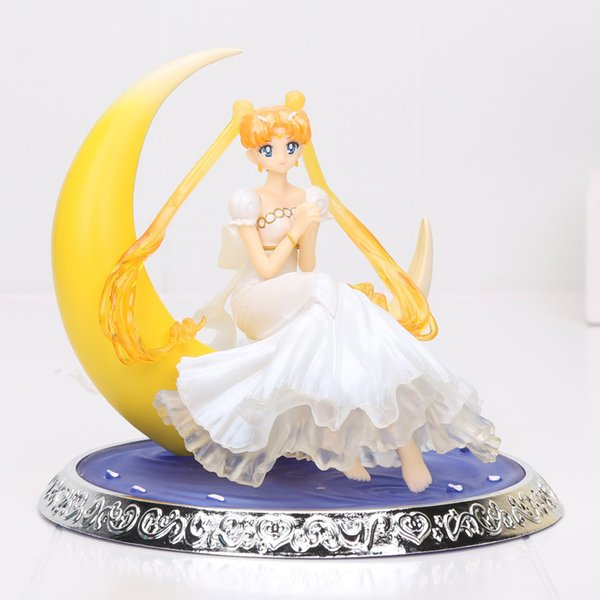 17cm Sailor Moon Action Figure 1/8 scale painted figure Princess Serenity Doll PVC Action Figure Collectible Model Toy