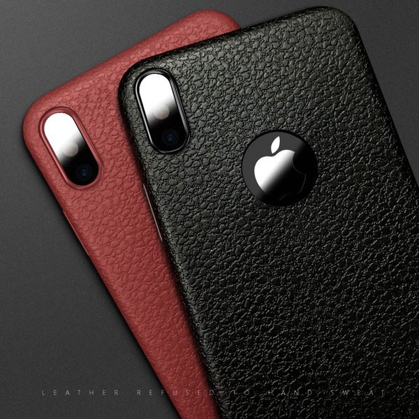 2018 New Design Phone Case For Iphone X New Hot Selling TPU luxury Striae Imitation Leather Phone Cover For Iphone8 Mobile Cellphone Case