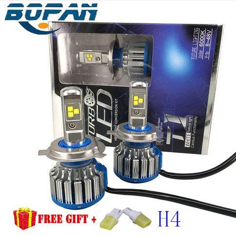 LED Headlight Conversion Kit H4 40W 4000LM Headlamp Replace HID Xenon Kit Auto Bulb Lamp Light