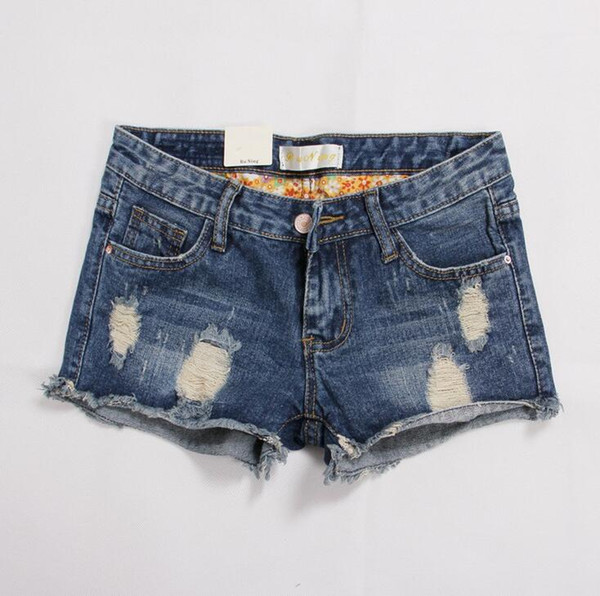Best gift Summer new large size women fat mm denim shorts female corners jeans women short jeans JW044 Women's Jeans