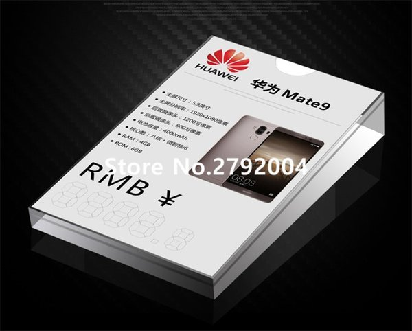 Wholesale- mobile phone store acrylic display price tag holder 14*9cm