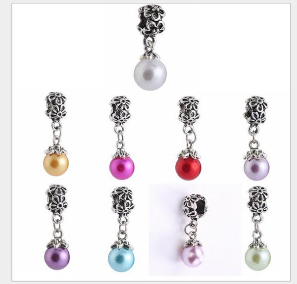 Fits Pandora Bracelets 30pcs Natural Fresh Pearl Pendant Dangle Charm Bead Loose Beads For Wholesale Diy European Sterling Necklace Women