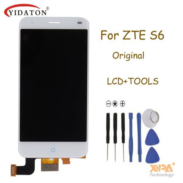 Wholesale- ZTE Blade S6 LCD Screen 100% Original LCD Display +Touch Screen Assembly Replacement For ZTE Blade S6 Smartphone Free Shipping
