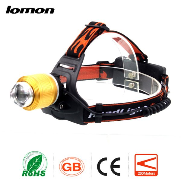 Zoom LED Headlamp Blue White Light Double Lights 18650 Rechargeable Headlight Super Bright Olight Bicycle Cycling Headtorch Head Light