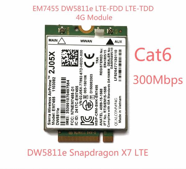 best selling Freeshipping New EM7455 DW5811E PN 2J05X FDD TDD LTE CAT6 4G Module 4G Card for E7270 E7470 E7370 E5570 E5470