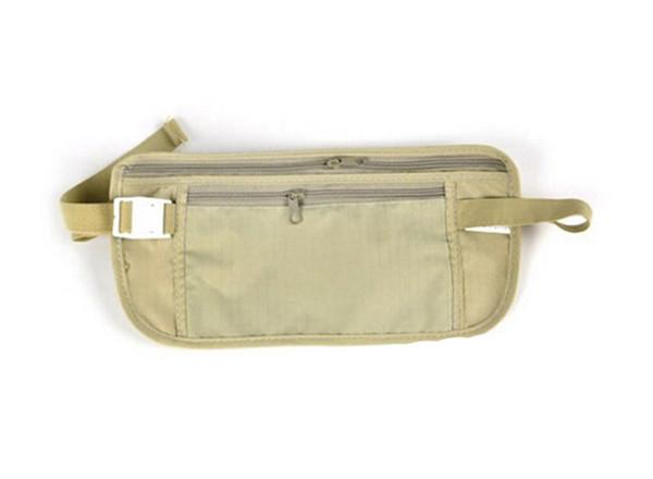 300pcs In stock Women wallets Travel Security Money Ticket Passport Holder waist packs Belt purse bag