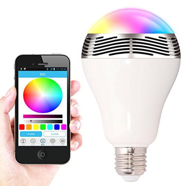 Altoparlante senza fili Bluetooth luminoso all'ingrosso di Playbulb della luce LED Lampada musicale di musica Smartphone APP controllato Display a LED multicolore