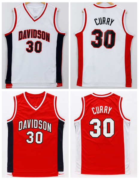 multiple colors 55501 3abae 2019 NCAA Davidson College #30 Stephen Curry Jersey Red White 100% Stitched  Throwback College Basketball Jerseys S XXL From Lizw33, $14.22 | ...