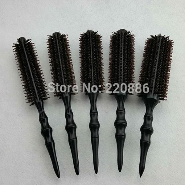 Großhandelsberufliche hölzerne Haarbürste-Eber-Borsten mischen die Nylonfrisur, die runde Kamm-Bürste GIC-HB568 anredet (5pcs / set) Freies Verschiffen