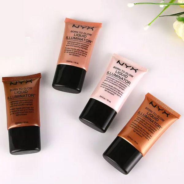 NYX Liquid Foundation Face Concealer Makeup Born To Glow Liquid Illuminator BB Cream Make Up Powder Cosmetics Skin Care 18ml