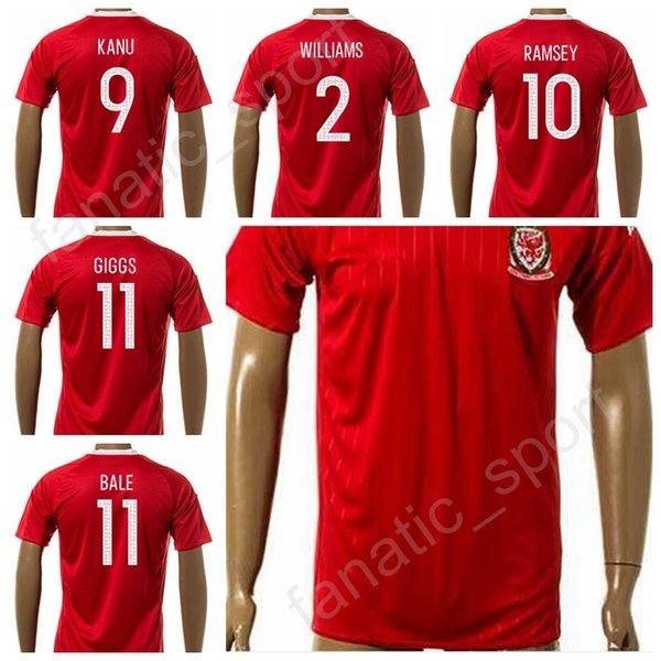 save off 5be45 ccc59 2019 17 18 Soccer Welsh Jersey 2017 National Team 11 Gareth Bale 11 Ryan  Giggs Football Shirt Uniform Kits 10 Aaron Ramsey 9 VOKES 2 WILLIAMS From  ...