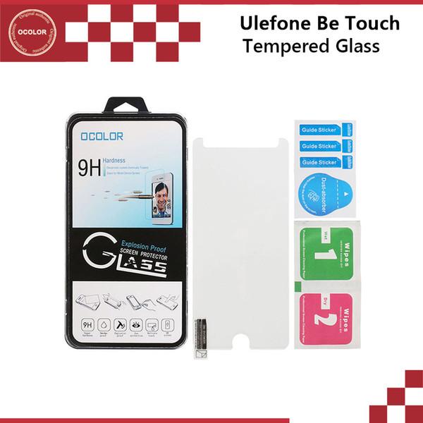 Atacado-Original para UleFone Be Touch Filme de Aço Temperado Filme de Vidro para Ser Toque 2 Ser Toque 3 Protetor de Tela Película Protetora Livre Shipp