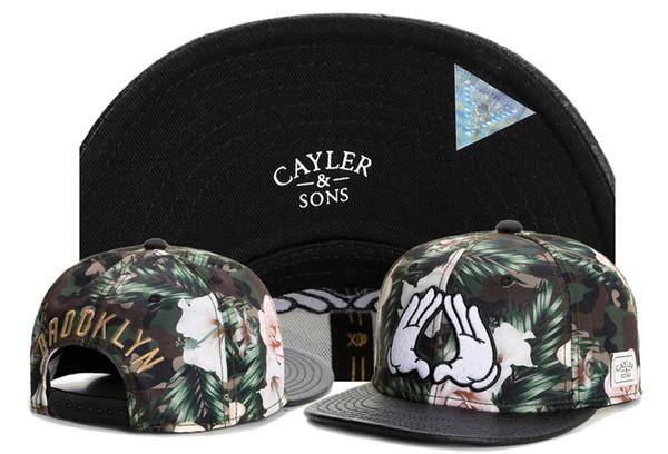 Cayler & Sons Hand Baseball Caps Cayler Sons Brooklyn Men Adjustable Snapback Hip Hop Women Flowers Hats Casquette