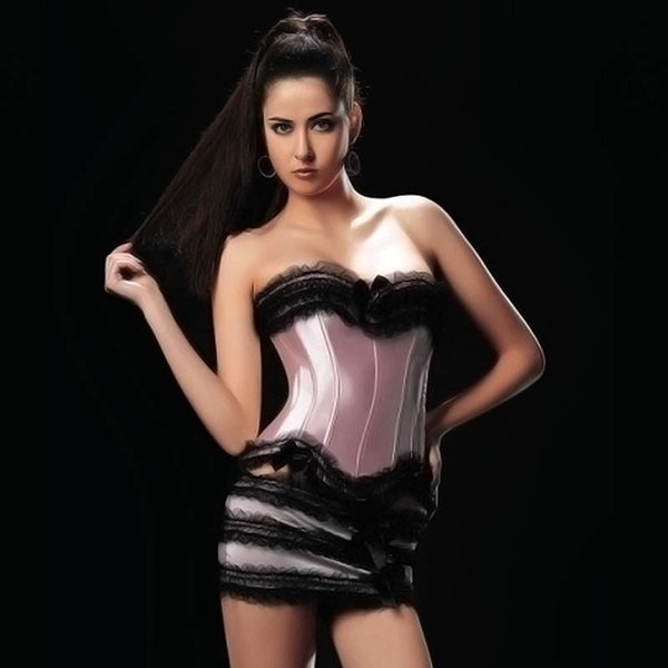 Sexy Lace Brocade Bustier top with Tutu Skirt Women Corselet S M L XL XXL Burlesque Club wear 8108
