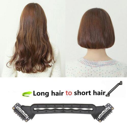 Nueva moda Nueva herramienta de aplanamiento del cabello Trenza trenzada del pelo largo Conviértase en un corto Bobo Peinado Herramienta para el cabello