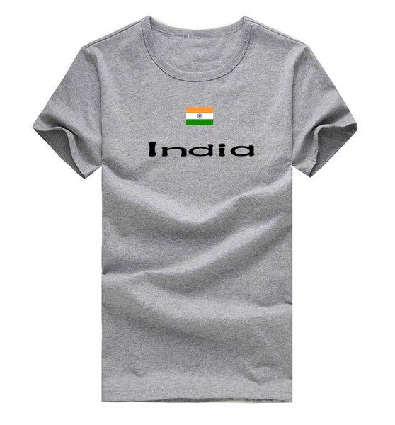 India T shirt Marathon sport short sleeve Cheer run tees Nation flag clothing Unisex cotton Tshirt