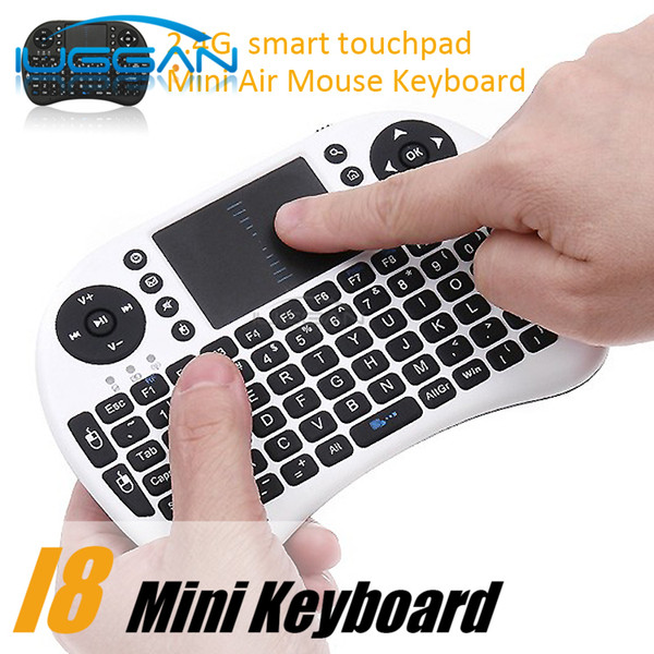 2017 Wireless Keyboard rii i8 keyboards Fly Air Mouse Multi-Media Remote Control Touchpad Handheld for TV BOX Android Mini PC