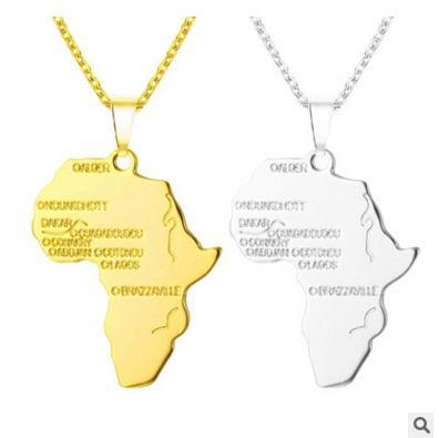 Nuova moda 24 k oro argento placcato africano collane con pendente collane da donna gioielli da uomo