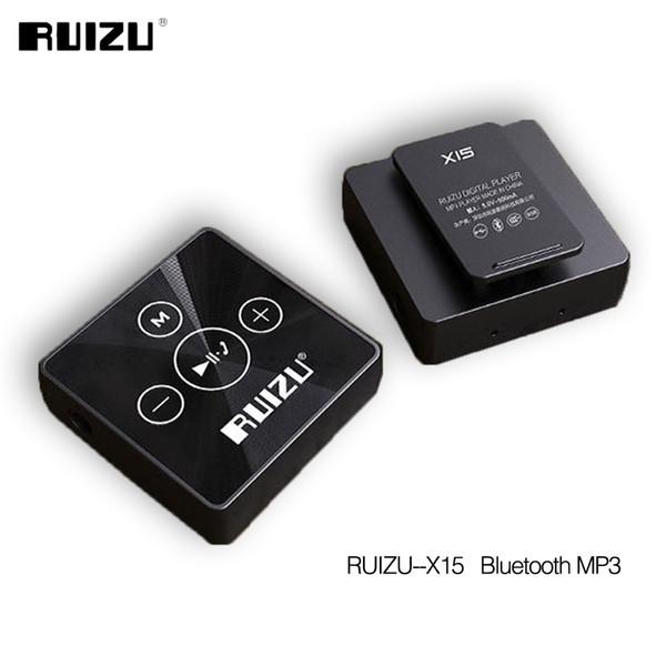 Wholesale- Ruizu X15 Portable Digital Lossless Hifi Audio Sport Mini Clip Mp 3 Music Mp3 Player Bluetooth 8GB Running With Flac WAV Media