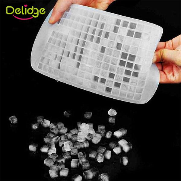 Delidge 20 Stück 160 Löcher Platz Eisform Silikon 4 Farben Bar Drink Whiskey Sphere 160 Grids Eisform DIY Eiswürfelform Maker