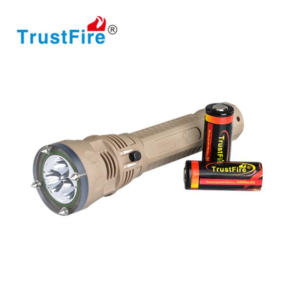 Professional Scuba Diving LED Flashlight Emergency LED Torch Higher Power Rechargeable Flash light LED Diving Lights Magnetic control Switch