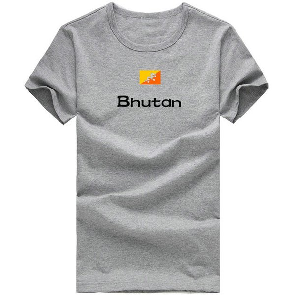 Bhutan T shirt Fitness designer sport short sleeve Printing picture tees Nation flag clothing Unisex cotton Tshirt