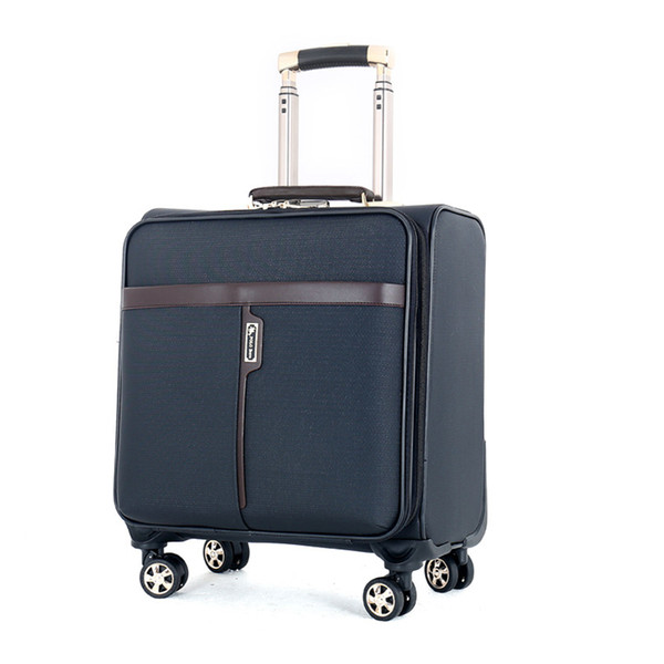 BOLO BRAVE New 16 I nch High Quality PU Leather Trolley case Men Business  Boarding Women Travel Luggage Bags Wheels Suitcase Bag dff7db0a21