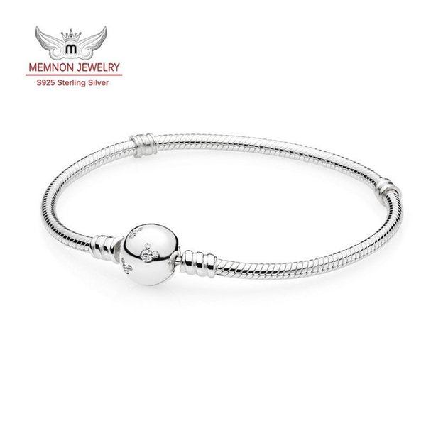 Memnon jewelry 2016 New 925 Sterling Silver jewelry DSN style Silver bracelets fit charms beads diy making chain fine Memnon jewelry YL017
