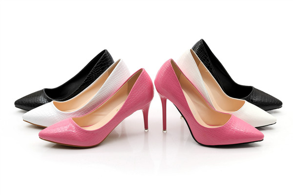 wholesaler free shipping factory price sexy lady patent leather shoes high heel wedding bride sexy lady office women Striped shoe
