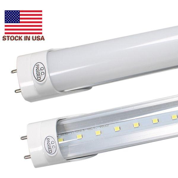 LED Ampuller Tüpler 4 Feet FT 4ft LED Tüp 18 W 22 W T8 Floresan Işık 6500 K Soğuk Beyaz Fabrika Toptan + stok ABD'de