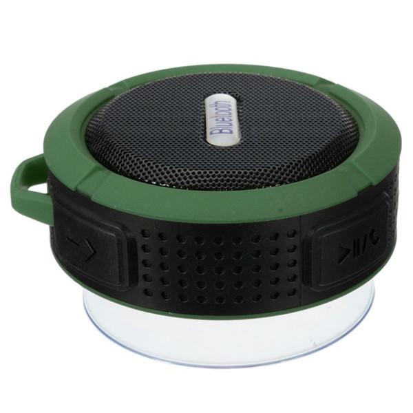 New Waterproof C6 bluetooth speakers Chuck dustproof Mini portable outdoor/Shower speaker with 5W Speaker/Suction Cup 5 colors
