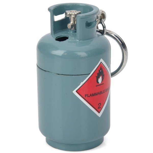 Wholesale-Creative Gas Tank Style Butane Gas Lighter - Grey Blue