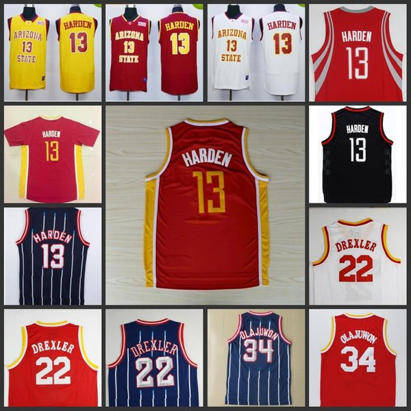 new style 9efe8 783c9 2019 Throwback Mesh Clyde Drexler #13 James Harden College Jersey #22  Jersey 100% Stitched Mesh Hakeem Abdul Olajuwon #34 Jerseys From Gootto,  $14.22 ...