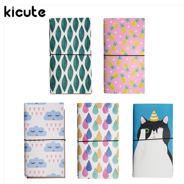 Wholesale- Kicute Modern PU Leather Planner Notebook Cover Binder Diary Book Exercise Composition Binding Note Notepad Gift Stationery