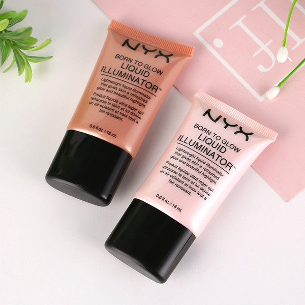 18ML Marcas NYX Face Concealer Foundation Maquillaje líquido Born To Glow Iluminador líquido BB Cream Make Up Cosméticos Cuidado de la piel