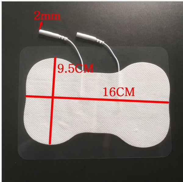 large Self Adhesive Premium White Foam Cloth Butterfly Tens Unit Electrode pads for Slimming belt full body massager pulse therapy machine