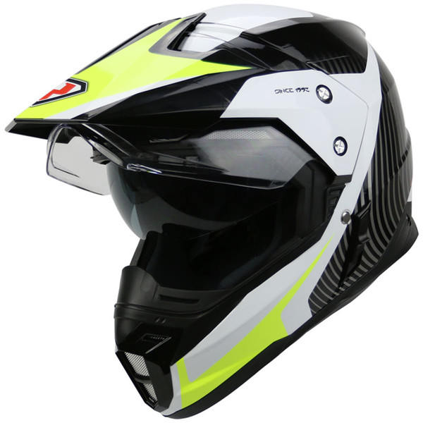 Capacete casco moto YOHE motorcycle helmet dual lens cross country helmet off road racing motocross helmet with inner sun visor