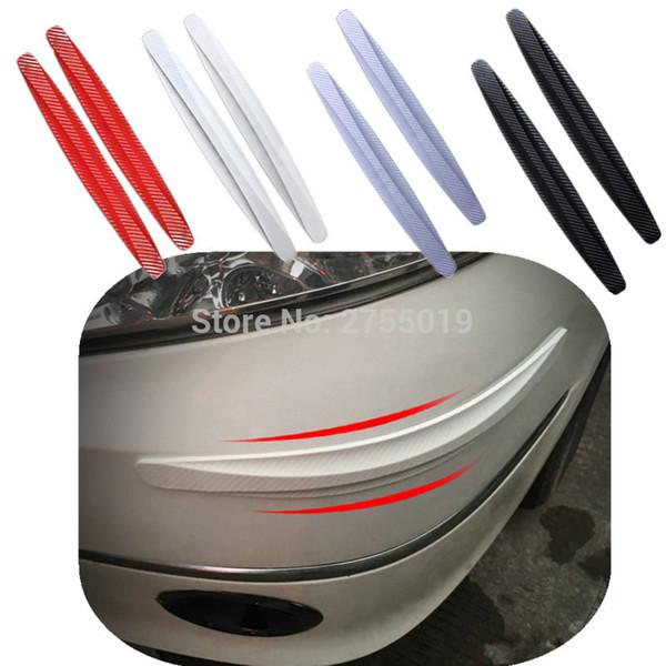 1 par de accesorios universales para el automóvil Protector de parachoques del cuerpo trasero delantero Tira de parachoques antiarañazos Molduras de diseño de automóviles para todos los automóviles