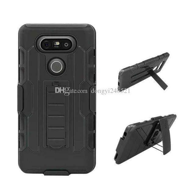 Hot selling Future Armor Hybrid Hard Case Cover + Belt Clip Holster Kickstand Combo Phone Cases for LG G2 G3 G4 G5 C40 K10
