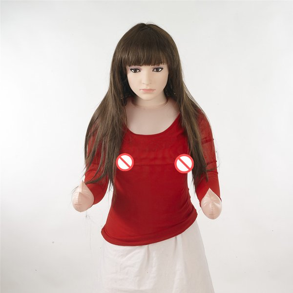 Standing black long hair doll