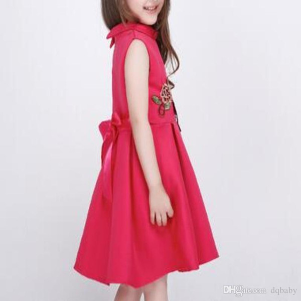 68e655190 Wholesale Spring And Summer Flower Dress For Children Party Weedding ...