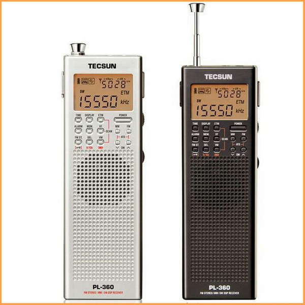 Wholesale-2016 Tecsun PL360 fm Stereo Portable fm Radio built-in speaker DSP Radio LW/MW/SW All band digital demodulation stereo radio