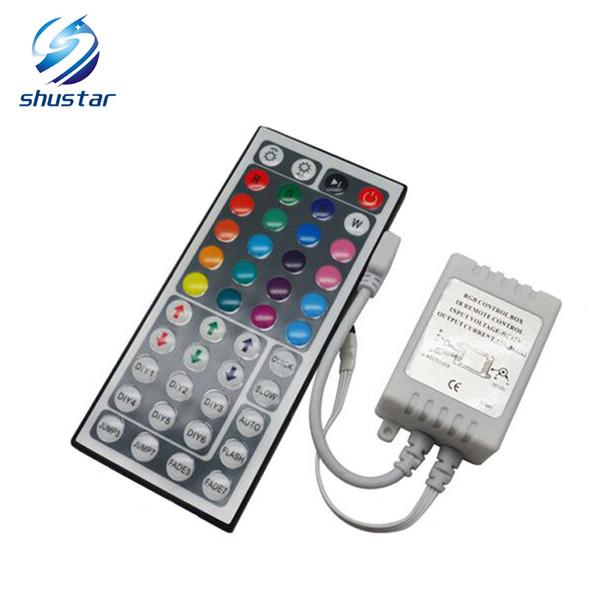 12 V 44 Teclas Inalámbrico IR Remoto RGB Mini Regulador Dimmer para smd 5050 3528 led Strips Lights 7 módulo de color