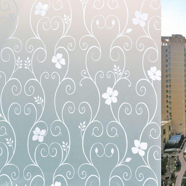 Autoadesivo della finestra di vetro della sfregatura Autoadesivo statico del film dell'isolamento termico di elettricità utilizzato per la toilette del bagno e l'ufficio Vetro decorativo 8ac A1