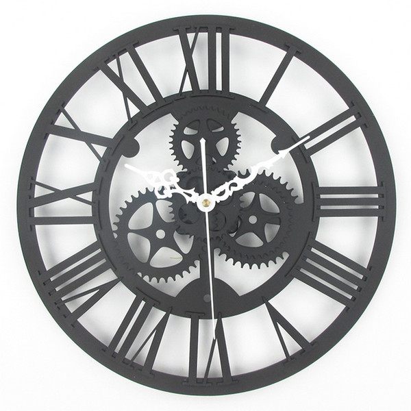 Large Mirrored Wall Clock wholesale large antique wall clock 3d acrylic gear wall clock